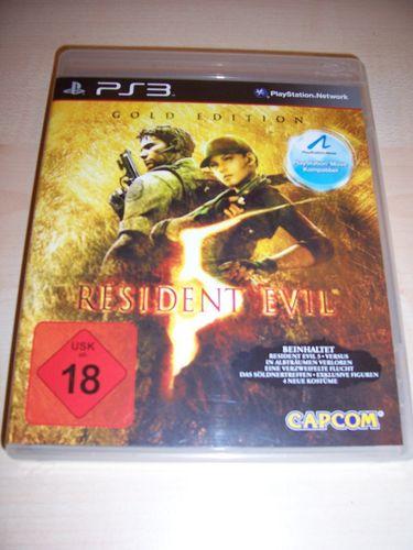 PlayStation 3 PS3 Spiel - Resident Evil 5 - Gold Edition  USK 18 komplett + Anleitung  gebr.