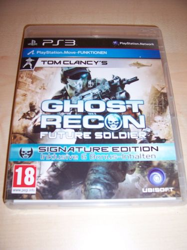 PlayStation 3 PS3 Spiel - Tom Clancy's Ghost Recon Future Soldier AT USK 18 komplett + Anleit. gebr.