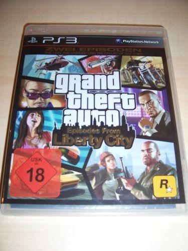 PlayStation 3 PS3 Spiel - GTA Grand Theft Auto Episodes from Liberty City  USK 18 komplett  gebr.