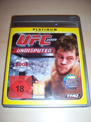 PlayStation 3 PS3 Spiel - UFC Undisputed 2009  Platinum  USK 18 komplett + Anleitung  gebr.