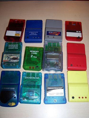 PlayStation 1 PS1 - 1x Memory Card mit 2MB 2 MB Speicherkarte mit Wechselknopf  PSX PSone  gebr.