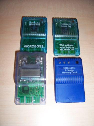 PlayStation 1 PS1 - 1x Memory Card mit 8MB 8 MB Speicherkarte mit Wechselknopf PSX PSone gebr.