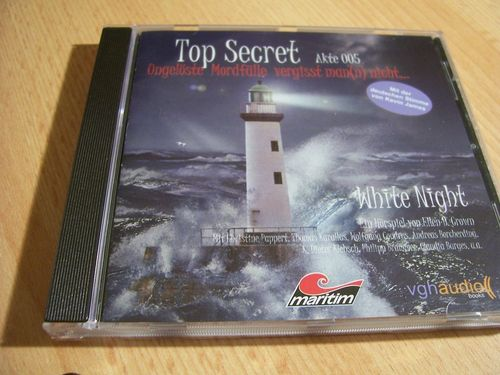 Top Secret Hörspiel CD 5 Akte 005 White Night  Maritim  gebr.