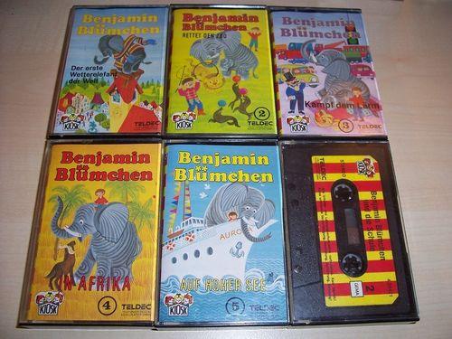 Benjamin Blümchen Hörspiel MC 1 + 2 + 3 + 4 + 5 + 6 x MCs Kindsköpfe Sammlung komplett  Kiosk gebr.