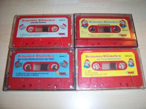 Benjamin Blümchen Hörspiel MC 1 + 6 + 13 + 31  4 x MCs Sammlung Remus gebr.