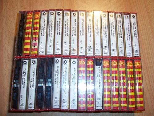 Benjamin Blümchen Hörspiel MC 32x MCs 1 - 60 Kassetten Sonocord Sammlung Paket komplett Kiosk gebr.