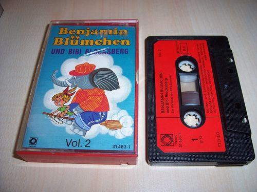 Benjamin Blümchen Hörspiel MC 020 20 und Bibi Blocksberg Kassette Auflage Sonocord 31483-1 gebr.
