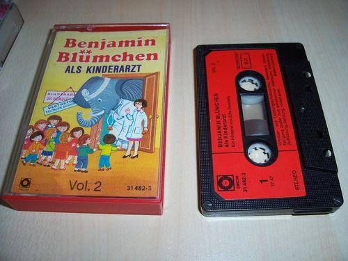 Benjamin Blümchen Hörspiel MC 022 22 als Kinderarzt  Kassette Auflage Sonocord 31482-3 gebr.