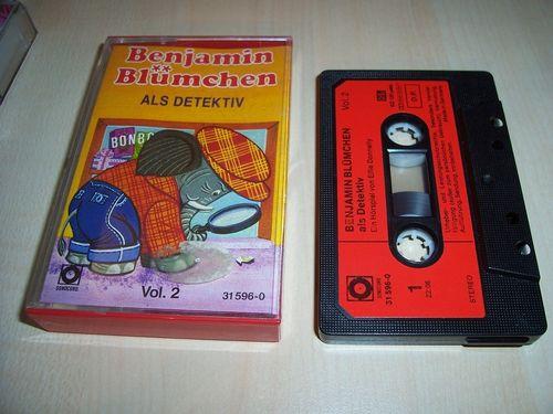 Benjamin Blümchen Hörspiel MC 024 24 als Detektiv  Kassette Auflage Sonocord 31596-0 gebr.
