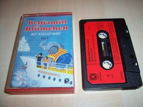 Benjamin Blümchen Hörspiel MC 025 25 auf Kreuzfahrt  Kassette Auflage Sonocord 31392-4 gebr.