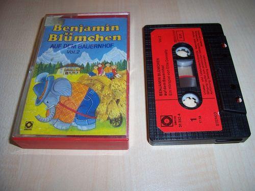 Benjamin Blümchen Hörspiel MC 027 27 auf dem Bauernhof  Kassette Auflage Sonocord 31392-4 gebr.