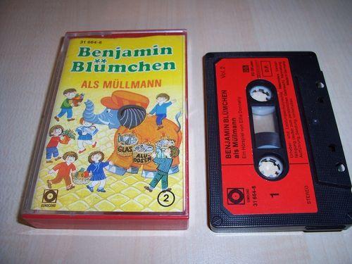 Benjamin Blümchen Hörspiel MC 049 49 als Müllmann  Kassette Auflage Sonocord 31664-6 gebr.