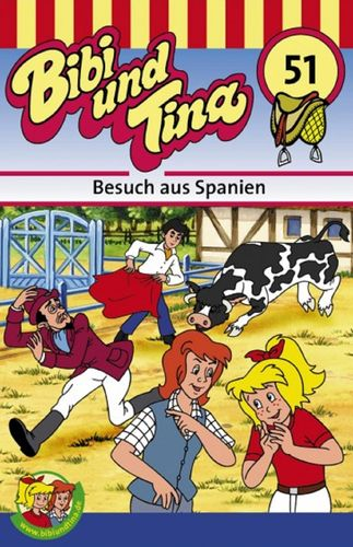 Bibi und Tina Hörspiel MC 051 51 Besuch aus Spanien  Kassette 3. Auflage blau Kiddinx NEU & OVP