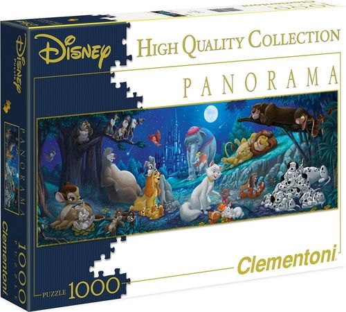 Puzzle 1000 Teile Panorama - Walt Disney Sweet Night von Clementoni alte Version NEU & OVP