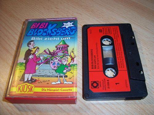 Bibi Blocksberg Hörspiel MC 021 21 zieht um Kassette Auflage Sonocord 31856-8 gebr.