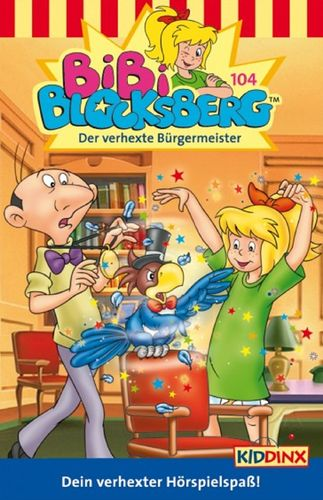 Bibi Blocksberg Hörspiel MC 104 Der verhexte Bürgermeister Kassette 6. Auflage blau Kiddinx NEU OVP