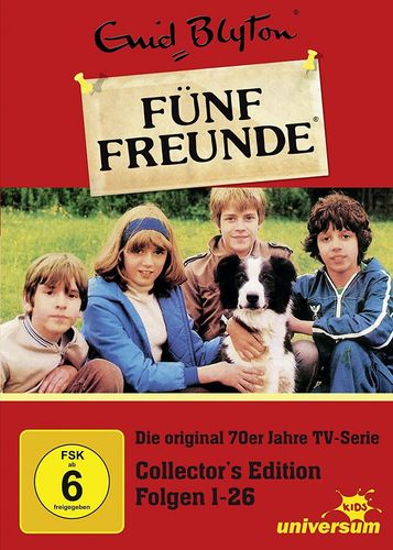 DVD 5 Fünf Freunde Box Collectors Edition mit 1-26 Folgen 6 DVDs TV-Serie aus den 70er Universum NEU