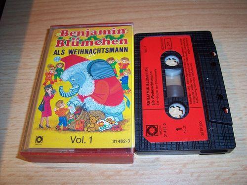 Benjamin Blümchen Hörspiel MC 021 21 als Weihnachtsmann  Kassette Auflage Sonocord 31482-3 gebr.