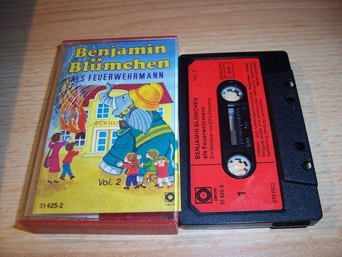 Benjamin Blümchen Hörspiel MC 031 31 als Feuerwehrmann  Kassette Auflage Sonocord 31425-2 gebr.