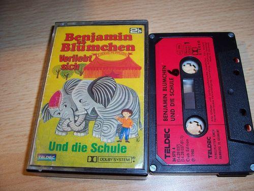 Benjamin Blümchen Doppelfolge Hörspiel MC 6 und die Schule + 7 verliebt sich Kassetten Teldec gebr.