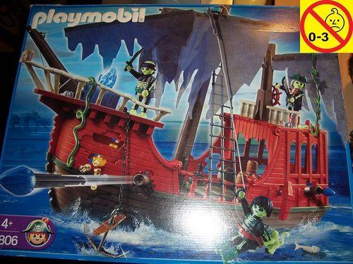 Playmobil Set 4806 Pirates / Piraten - Geisterpiratenschiff + Bauanleitung + OVP gebr.