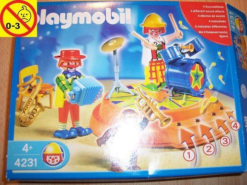 Playmobil Set 4231 Circus / Zirkus - Zirkuskapelle mit Soundmodul + Bauanleitung + OVP gebr.