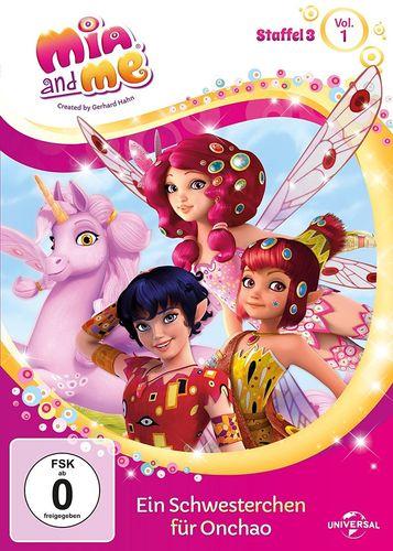 DVD Mia and Me 27 Ein Schwesterchen für Onchao Staffel 3 1 TV-Serie 01+02+03 OVP & NEU