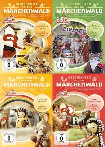 DVD Herr Fuchs und Frau Elster - Geschichten aus dem Märchenwald  1 - 4 x DVDs komplett Sammlung NEU