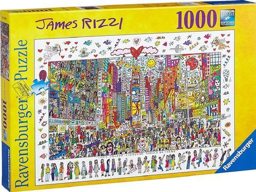 Puzzle 1000 Teile James Rizzi - Times Square von Ravensburger Premium Nr. 190690 NEU & OVP