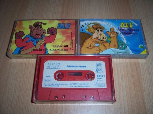 ALF Hörspiel MC Remus 6891 + 6899 + 6905  3x MCs Kassette zur TV-Serie Karussell gebr.