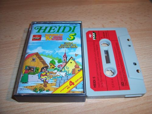 Heidi Hörspiel MC Folge 005 5 Die Fahrt ins Grüne  Original zur TV-Serie Poly Polydor gebr.