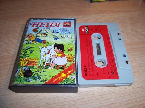 Heidi Hörspiel MC Folge 006 6 Heidi kehrt zurück  Original zur TV-Serie Poly Polydor gebr.