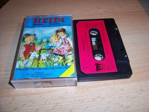 Heidi Hörspiel MC Folge 002 2 Heidi 2 / II Ferien... Ferien  Kassette Teldec Audioton für Mich gebr.