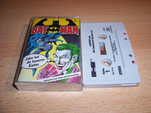 Batman Hörspiel MC Folge 001 1 Joker hat die besseren Karten  Kassette grau-schwarz OHHA gebr.