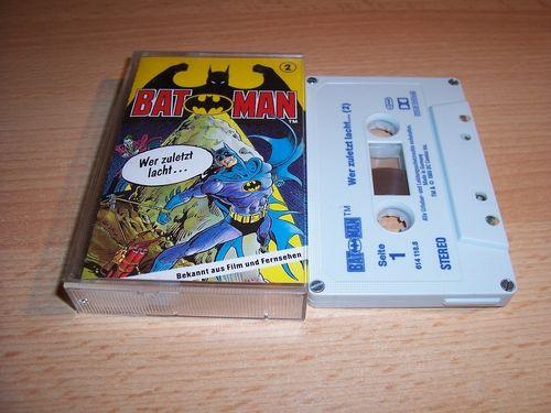 Batman Hörspiel MC Folge 002 2 Wer zuletzt lacht ...  Kassette grau-blau OHHA gebr.