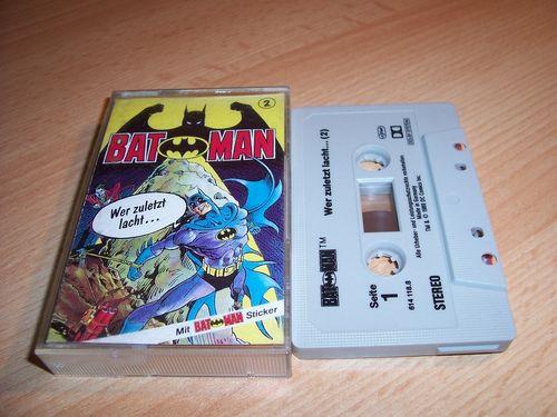 Batman Hörspiel MC Folge 002 2 Wer zuletzt lacht ...  Kassette grau-schwarz OHHA gebr.