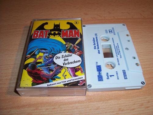 Batman Hörspiel MC Folge 003 3 Die Schüler des Verbrechens  Kassette grau-blau OHHA gebr.