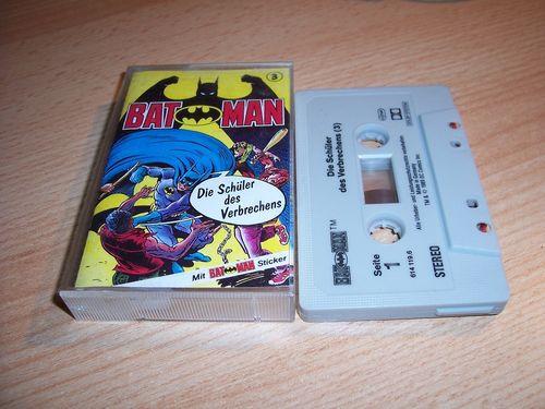 Batman Hörspiel MC Folge 003 3 Die Schüler des Verbrechens  Kassette grau-schwarz OHHA gebr.