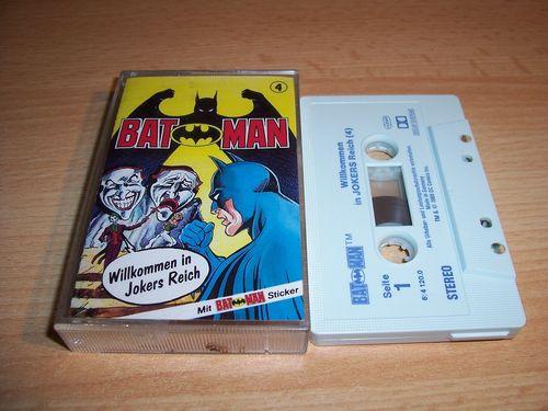 Batman Hörspiel MC Folge 004 4 Willkommen in Jokers Reich  Kassette grau-blau OHHA gebr.