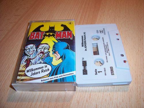 Batman Hörspiel MC Folge 004 4 Willkommen in Jokers Reich  Kassette grau-schwarz OHHA gebr.