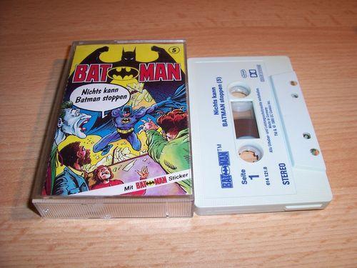 Batman Hörspiel MC Folge 005 5 Nichts kann Batman stoppen  Kassette grau-blau OHHA gebr.