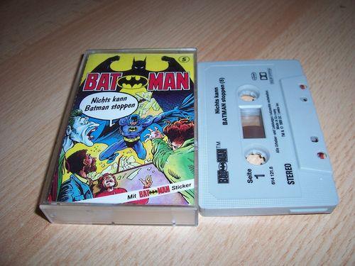 Batman Hörspiel MC Folge 005 5 Nichts kann Batman stoppen  Kassette grau-schwarz OHHA gebr.