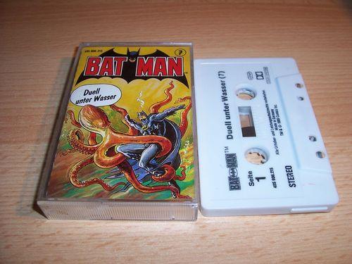 Batman Hörspiel MC Folge 007 7 Duell unter Wasser  Kassette grau-schwarz OHHA gebr.