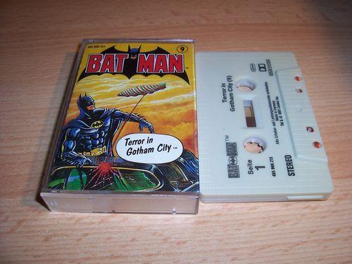 Batman Hörspiel MC Folge 009 9 Terror in Gothem City  Kassette grau-schwarz OHHA gebr.