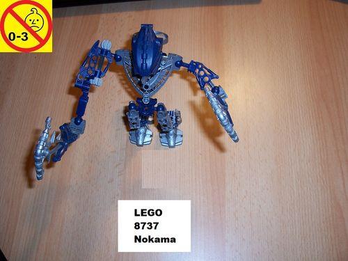 LEGO ® Technic Bionicle Set 8737 - Metru Nui - Toa Hordika Nokama gebr.