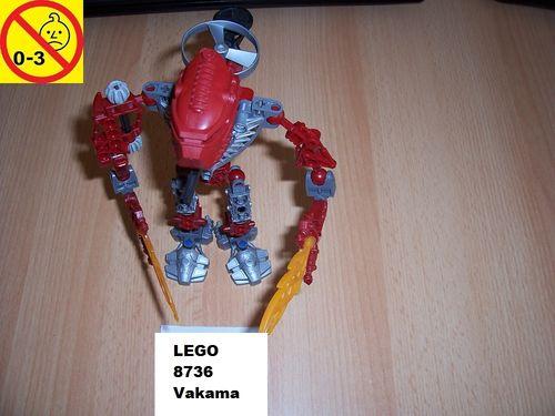 LEGO ® Technic Bionicle Set 8736 - Metru Nui - Toa Hordika Vakama gebr.