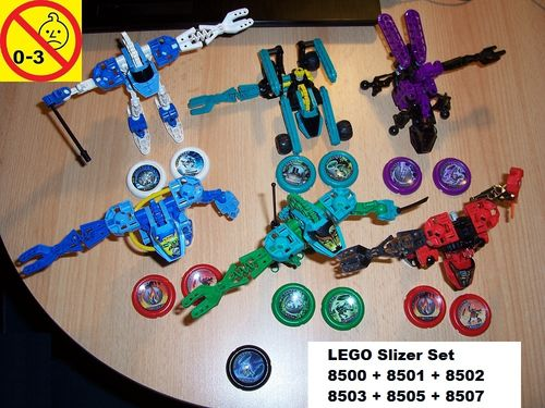 LEGO ® Technic Bionicle Set 8500 + 8501 + 8502 + 8503 + 8505 + 8507 Throwbots - Slizer 6x Sets gebr.