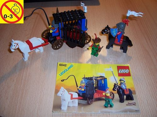 LEGO ® Castle / Knights Kingdom / Ritter Set 6042 - Dungeon Hunters - Gefangenentransport + BA gebr.
