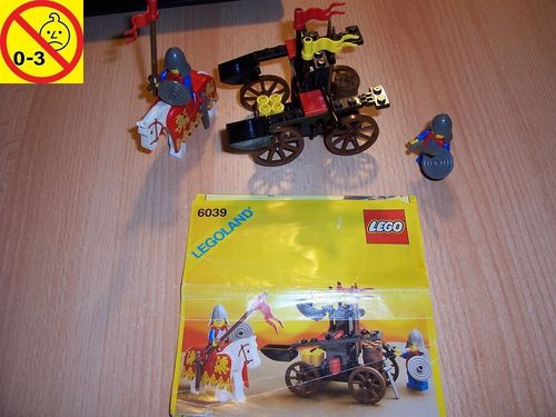 LEGO ® Castle / Knights Kingdom / Ritter Set 6039 - Twin Arm Launcher - Katapult + BA gebr.