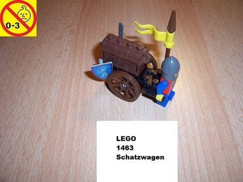 LEGO ® Castle / Knights Kingdom / Ritter Set 1463 - Treasure Cart - Schatzwagen gebr.